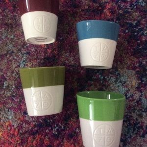 4 Starbucks Tazo Tea Cups